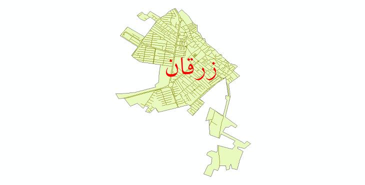 دانلود نقشه شیپ فایل شبکه معابر شهر زرقان سال 1399
