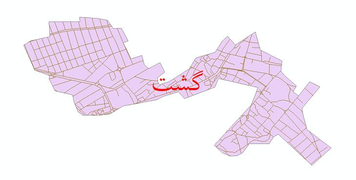 دانلود نقشه شیپ فایل شبکه معابر شهر گشت سال 1399