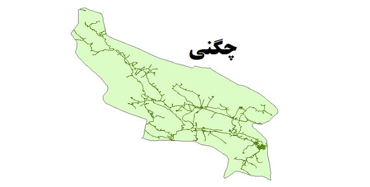 شیپ فایل شبکه راههای شهرستان چگنی 1399