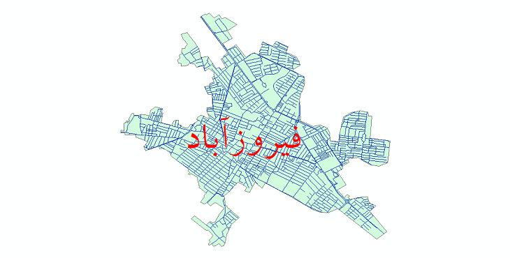 دانلود نقشه شیپ فایل شبکه معابر شهر فیروزآباد سال 1399