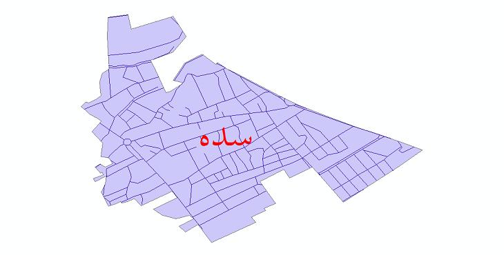 دانلود نقشه شیپ فایل شبکه معابر شهر سده سال 1399