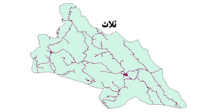 شیپ فایل شبکه راههای شهرستان ثلاث 1399