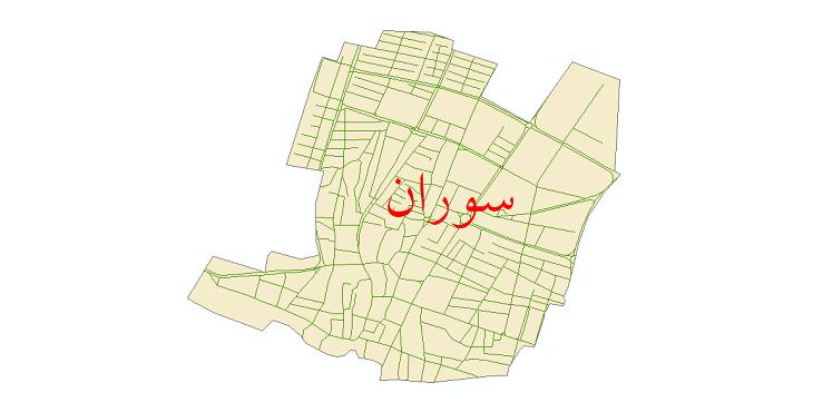 دانلود نقشه شیپ فایل شبکه معابر شهر سوران سال 1399
