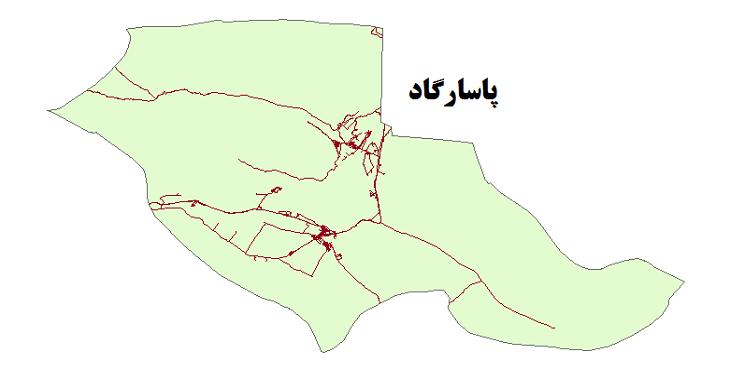 شیپ فایل شبکه راههای شهرستان پاسارگاد 1399