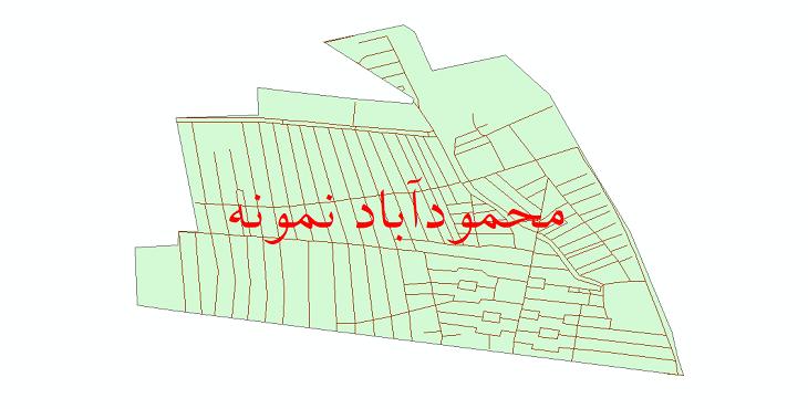 دانلود نقشه شیپ فایل شبکه معابر شهر محمودآباد نمونه سال 1399