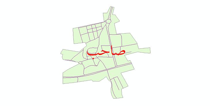 دانلود نقشه شیپ فایل شبکه معابر شهر صاحب سال 1399