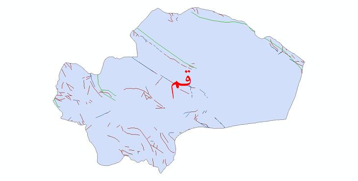 دانلود نقشه شیپ فایل گسل های استان قم