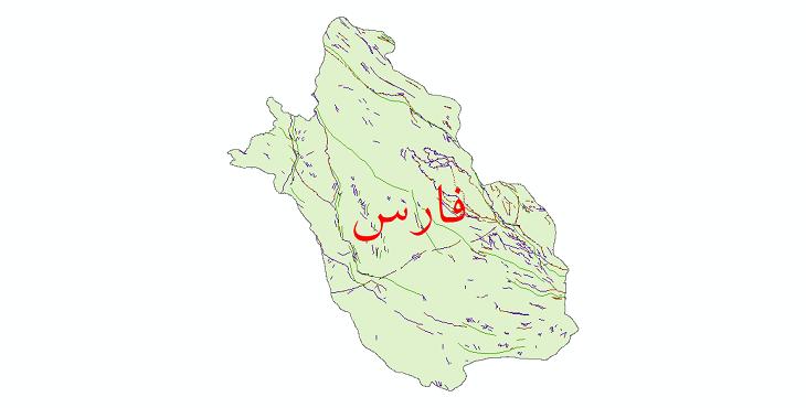دانلود نقشه شیپ فایل گسل های استان فارس