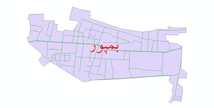 دانلود نقشه شیپ فایل شبکه معابر شهر بمپور سال 1399