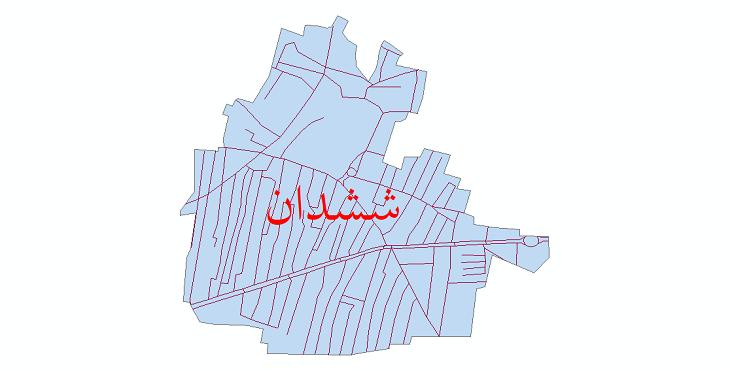 دانلود نقشه شیپ فایل شبکه معابر شهر ششدان سال 1399