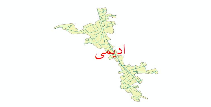 دانلود نقشه شیپ فایل شبکه معابر شهر ادیمی سال 1399
