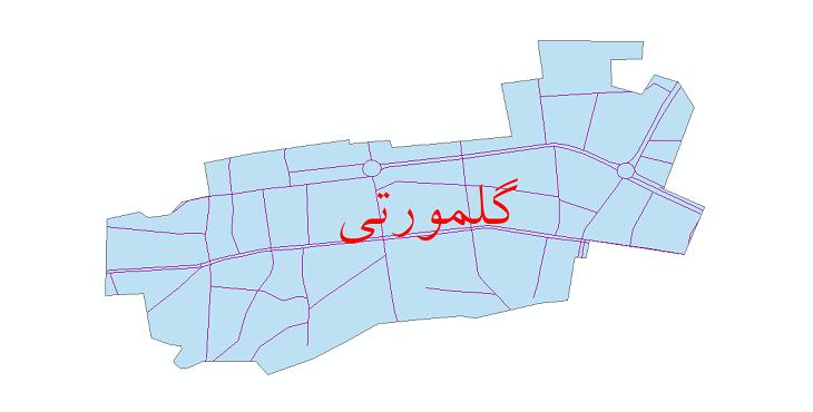 دانلود نقشه شیپ فایل شبکه معابر شهر گلمورتی سال 1399