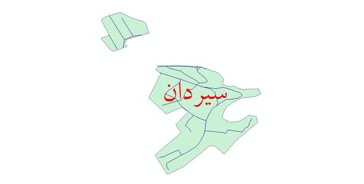 دانلود نقشه شیپ فایل شبکه معابر شهر سیردان سال 1399
