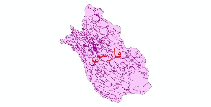 دانلود نقشه شیپ فایل شبکه راه های استان فارس سال 1399