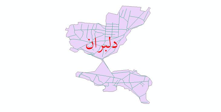 دانلود نقشه شیپ فایل شبکه معابر شهر دلبران سال 1399