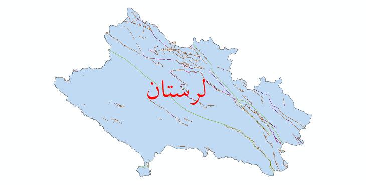 دانلود نقشه شیپ فایل گسل های استان لرستان