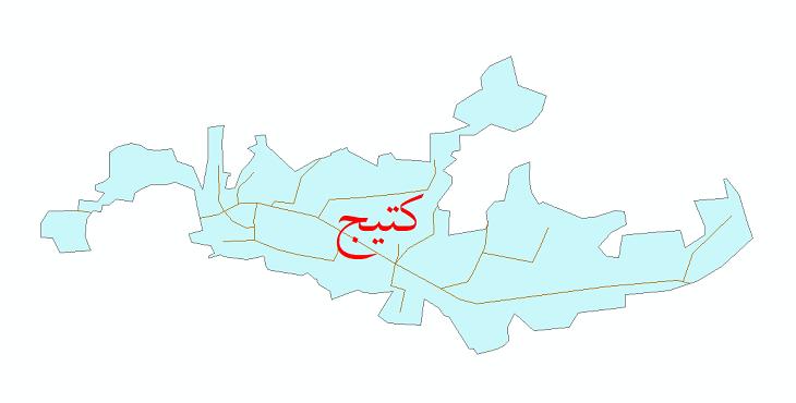 دانلود نقشه شیپ فایل شبکه معابر شهر کتیج سال 1399
