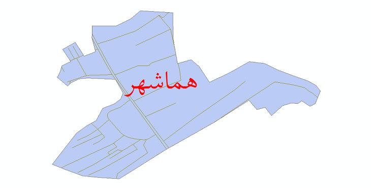 دانلود نقشه شیپ فایل شبکه معابر شهر هماشهر سال 1399
