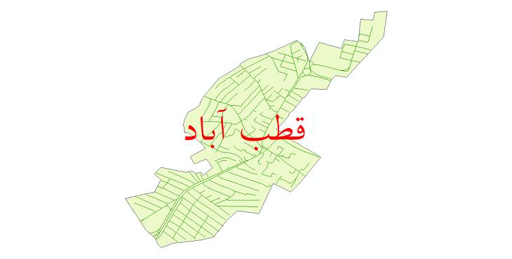 دانلود نقشه شیپ فایل شبکه معابر شهر قطب آباد سال 1399