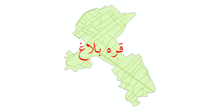 دانلود نقشه شیپ فایل شبکه معابر شهر قره بلاغ سال 1399