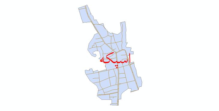 دانلود نقشه شیپ فایل شبکه معابر شهر اسپکه سال 1399