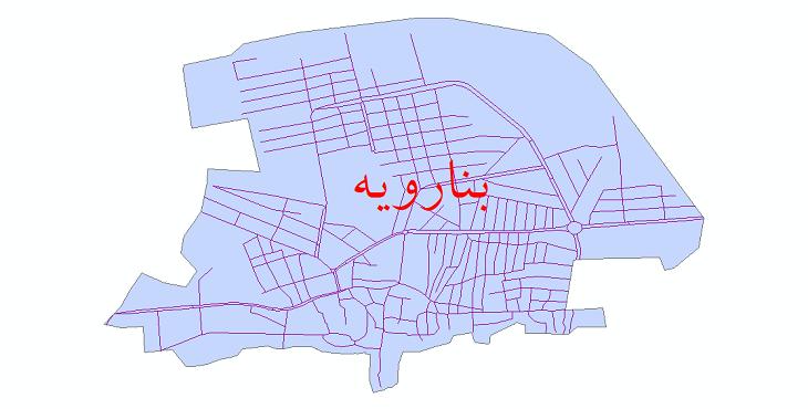 دانلود نقشه شیپ فایل شبکه معابر شهر بنارویه سال 1399