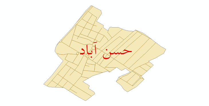 دانلود نقشه شیپ فایل شبکه معابر شهر حسن آباد سال 1399