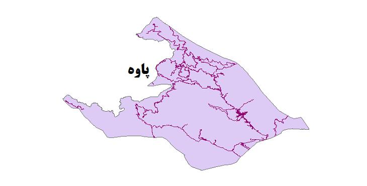 شیپ فایل شبکه راههای شهرستان پاوه 1399