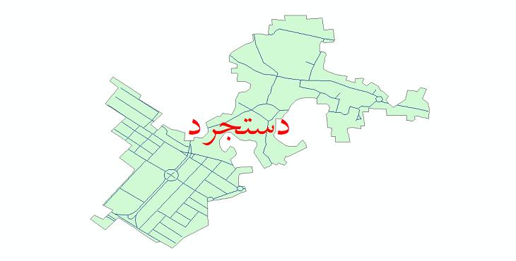 دانلود نقشه شیپ فایل شبکه معابر شهر دستجرد سال 1399