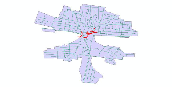 دانلود نقشه شیپ فایل شبکه معابر شهر خور سال 1399
