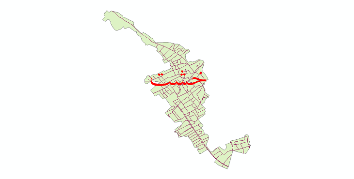 دانلود نقشه شیپ فایل شبکه معابر شهر خشت سال 1399