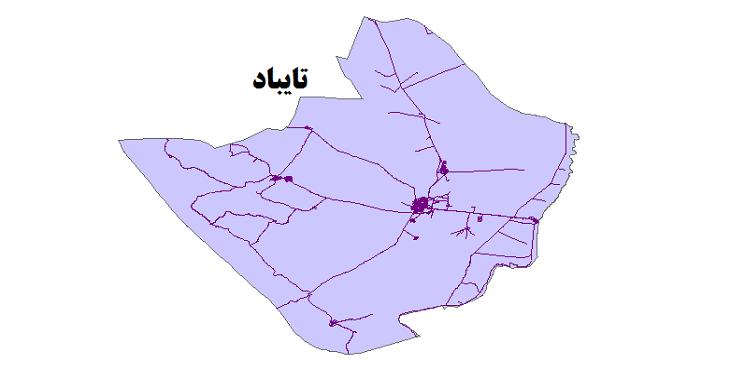 شیپ فایل شبکه راههای شهرستان تایباد 1399